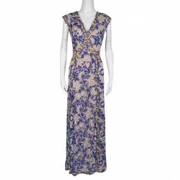 Tadashi Shoji Multicolor Floral Embroidered Tulle Amalie Gown M 136378