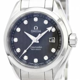 Omega Black Stainless Steel Seamaster Aqua Terra Women's Wristwatch 30MM 159547