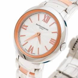 Baume&Mercier Silver White Stainless Steel And Rose Gold Plated Steel Promesse 65753 Women's Wristwatch 30 mm 175579