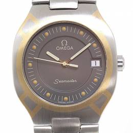 Omega Grey Stainless Steel Seamaster Polaris Men's Wristwatch 32MM 184432