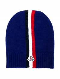 Moncler Kids - striped beanie hat 036565S6893958669000
