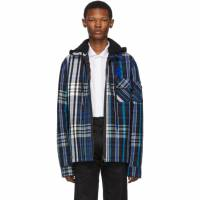 Off-White Blue and Black Padded Hoodie Shirt