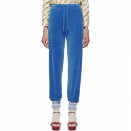 Gucci Blue Chenille Lounge Pants 192451F08600103GB