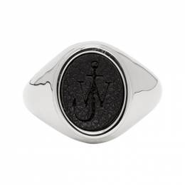 J.W. Anderson Silver and Black Signet Ring