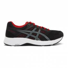 Asics Black and Red Gel-Contend 5 Sneakers 192092M23702010GB