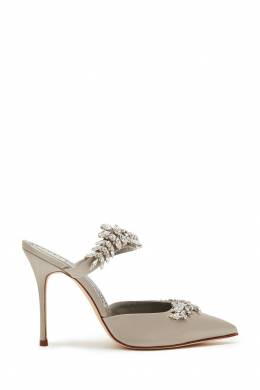 Серебристые туфли Lurum 105 Manolo Blahnik 166137389