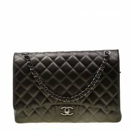 Chanel Seaweed Green Quilted Leather Maxi Classic Double Flap Bag