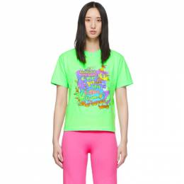 Vetements Green Vacation Cropped T-Shirt 192669F11001702GB