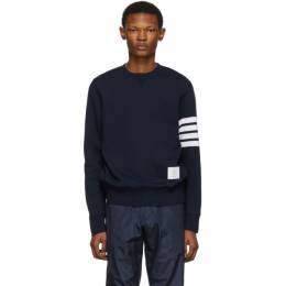 Thom Browne Navy Classic 4-Bar Sweatshirt 192381M20400202GB