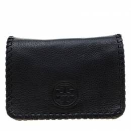 Tory Burch Black Leather Marion Combo Crossbody Bag