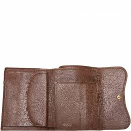 Gucci Brown Leather Saddle Wallet