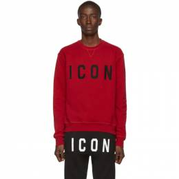 Dsquared2 Red Cool Fit Sweatshirt 192148M20400505GB