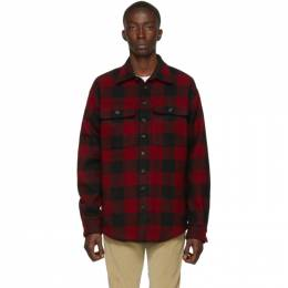 Dsquared2 Red and Black Check Military Shirt 192148M19200403GB