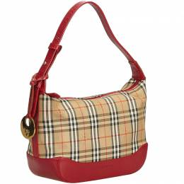 Burberry Brown Plaid Jacquard Everyday Bag