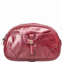 Gucci Red Vintage Leather Clutch Bag