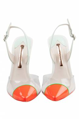 Sophia Webster Neon Tricolor Patent Leather And PVC Daria Pumps Size 37 204023