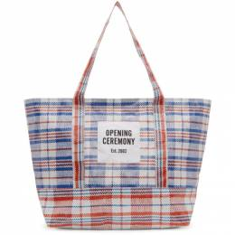 Opening Ceremony White and Red Medium Chinatown Tote 192261M17200101GB