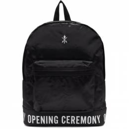 Opening Ceremony SSENSE Exclusive Black Logo Classic Backpack 192261F04200401GB