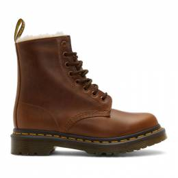 Dr. Martens Brown 1460 Fur Serena Boots 192399F11302404GB