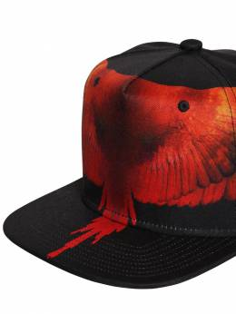 Wings Printed Techno Baseball Hat Marcelo Burlon County Of Milan 70IOEM034-QjAxMA2