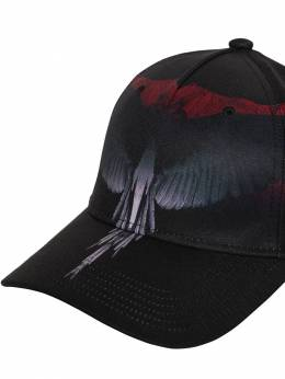 Wings Printed Techno Baseball Hat Marcelo Burlon County Of Milan 70IOEM033-QjAxMA2