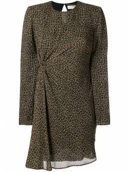 Saint Laurent - leopard print ruched dress 399Y839T939995560000