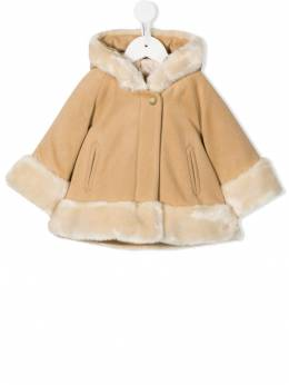 Chloé Kids - faux-fur trimmed hooded coat 69303995995093000000