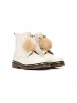 Monnalisa - pom-pom ankle boots 665M5366950906880000