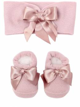 Knit Socks & Headband Set W/ Satin Bow La Perla 70IOF8003-WVhJ0