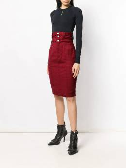Unravel Project - high-waisted pencil skirt C655E993936699599095