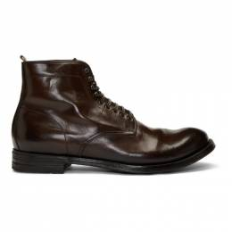 Officine Creative Burgundy Anatomia 13 Boots 192346M25500404GB
