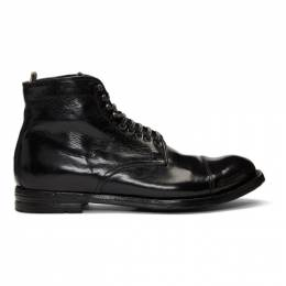 Officine Creative Black Anatomia 16 Boots 192346M25500303GB