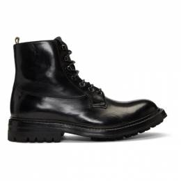 Officine Creative Black Exeter 4 Boots 192346M25500507GB
