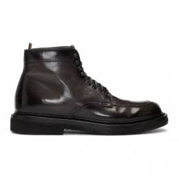 Officine Creative Grey Stanford 207 Boots 192346M25500604GB