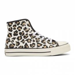 Converse Off-White Lucky Star Hi Leopard Print Sneakers 192799F12701907GB