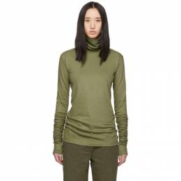 Lemaire Green Jersey Turtleneck 192646F09900302GB
