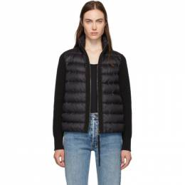Moncler Back Down and Wool Knit High Neck Jacket 192111F06300501GB