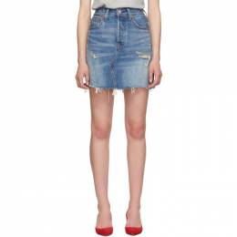 Levi's Blue High-Rise Deconstructed Skirt 192099F09000109GB