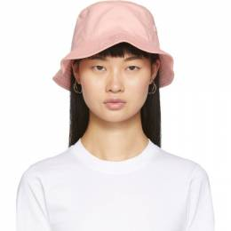 Acne Studios Pink Face Bucket Hat 192129F01500201GB