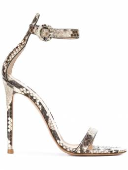 Gianvito Rossi - crocodile embossed sandal pumps 03399RICPIT950098000