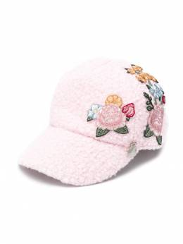 Monnalisa - embroidered floral cap 66656939500360900000