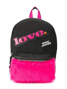 Little Marc Jacobs - fur-panelled canvas backpack 95995053060000000000