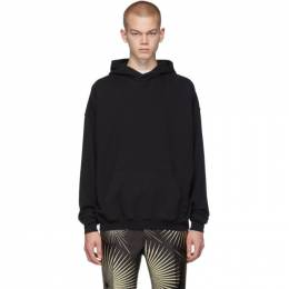 Haider Ackermann Black Cotton Hoodie 192542M20200205GB