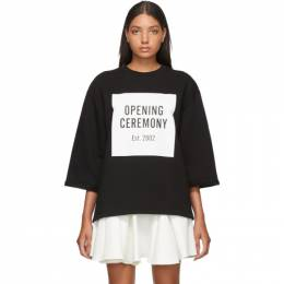 Opening Ceremony Black OC Logo Cut-Off Sweatshirt 192261F11000901GB