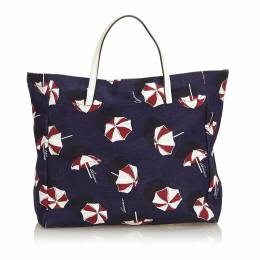 Gucci Blue Umbrella Printed Canvas Tote 198974