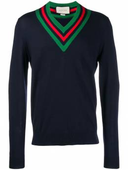 Gucci - Web v-neck jumper 860XKAUK950965500000