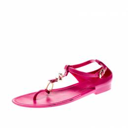 Ralph Lauren Fuschia Pink Jelly Karly Ankle Strap Sandals Size 41 209138