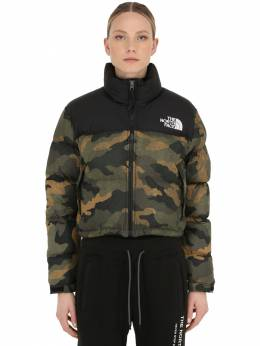 Womens Nuptse Cropped Down Jacket The North Face 70IDOM002-RjMy0