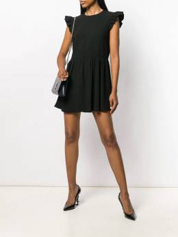 Saint Laurent - ruffled sleeves short dress 555Y690W938985330000