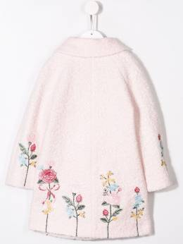 Monnalisa - floral embroidery button coat 963R6569395003993000